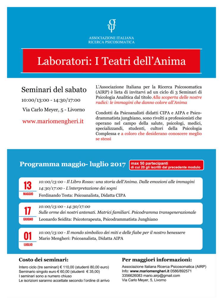 Mario Mengheri - Psicologo Psicoterapeuta Psicoanalista Livorno - Laboratori - I Teatri Dell Anima - Seconda Parte