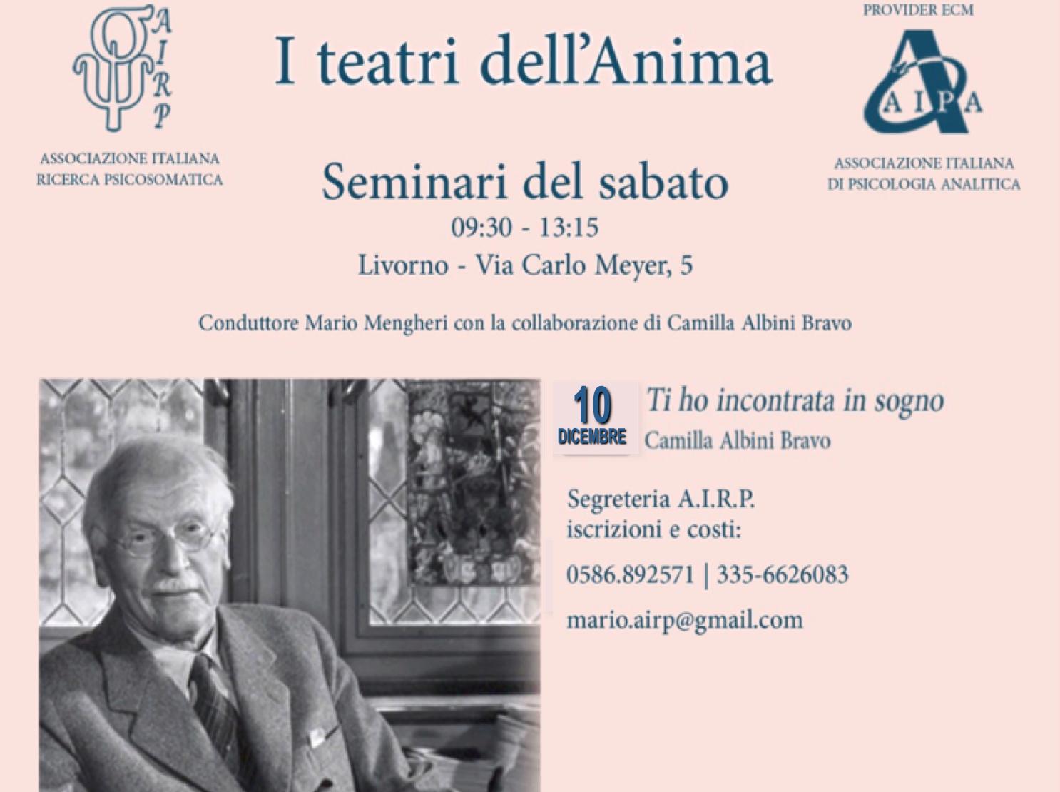 Mario Mengheri - Psicologo Psicoterapeuta Psicoanalista Livorno - Laboratori - I Teatri Dell Anima - Seminari del Sabato